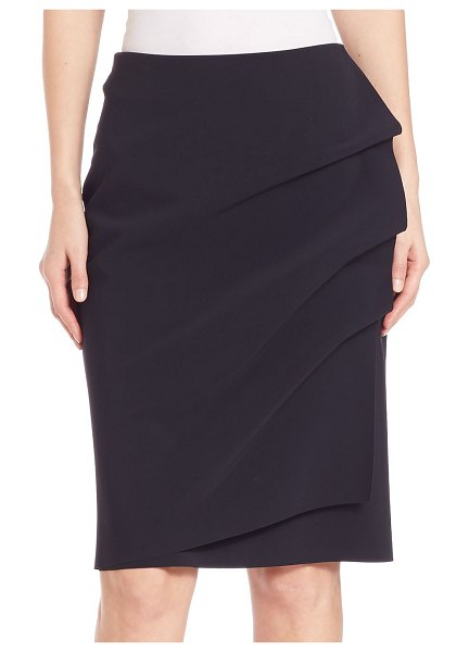 Chiara Boni La Petite Robe andree ruffled pencil skirt in black