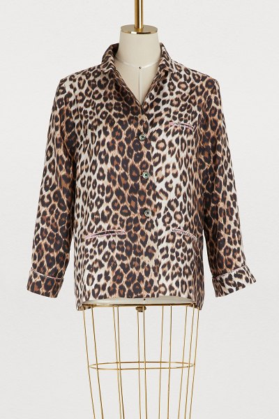 La Prestic Ouiston Leopard shirt in panthere - The richness of prints is a trademark element from La...