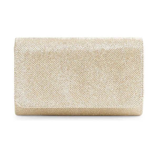 LA REGALE Glitter Clutch in gold