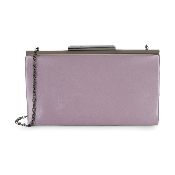 LA REGALE Rectangular Chain Clutch in lilac