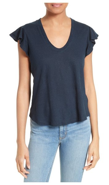 La Vie by Rebecca Taylor washed texture jersey tee in navy