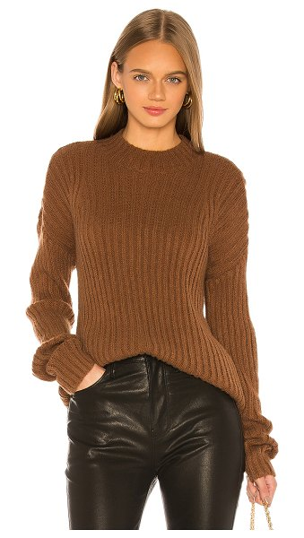 L'Academie marcy oversized sweater in clay