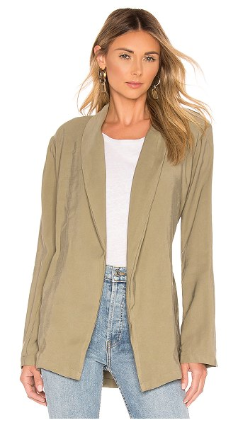 L'Academie Mary Blazer in army - 90% cotton 10% poly. Hand wash cold. Padded shoulders....