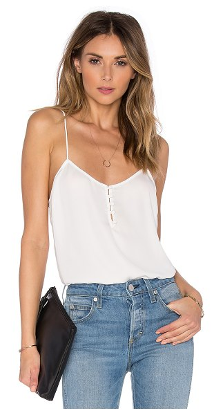 L'Academie the button cami blouse in ivory