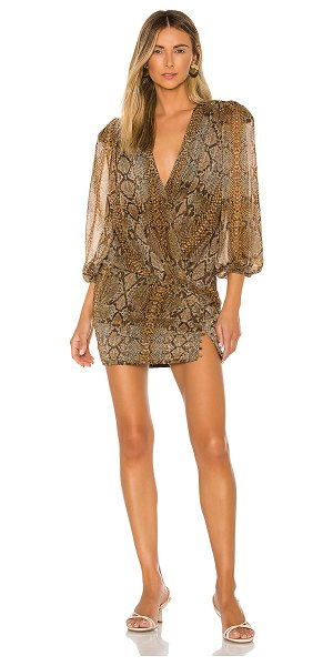 L'Academie the constancia mini dress in snake