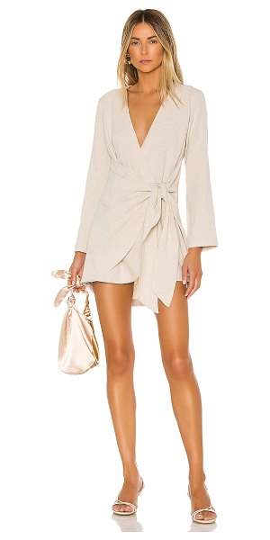 L'Academie the meadow mini dress in taupe