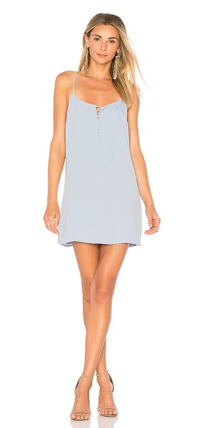 L'Academie The Mini Slip Dress in baby blue - Self & Lining: 100% poly. Hand wash cold. Fully lined....