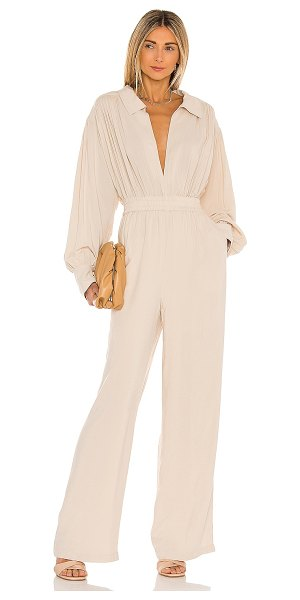 L'Academie the rayne jumpsuit in beige