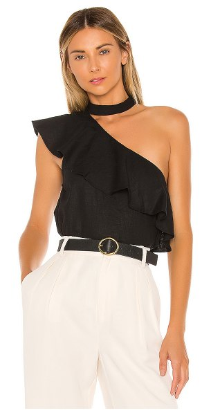 L'Academie the seberg top in black