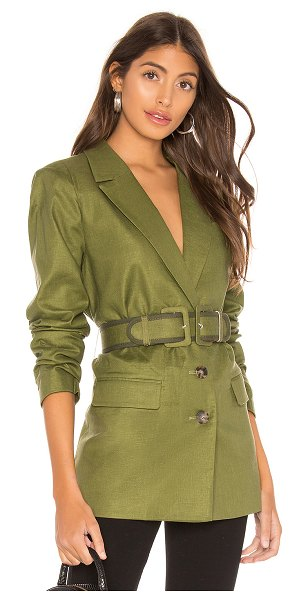 L'Academie the thierry blazer in olive