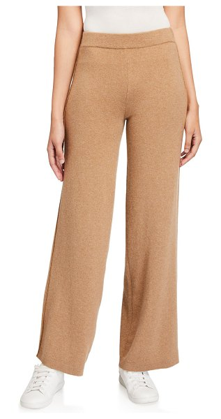 Lafayette 148 New York Cashmere Straight-Leg Jersey Pants in camel