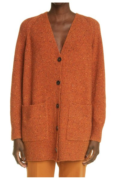Lafayette 148 New York donegal cashmere & wool blend cardigan in harvest multi