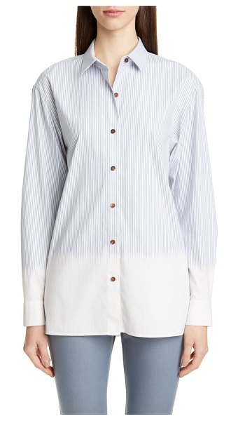 Lafayette 148 New York everson stripe shirt in seaport multi