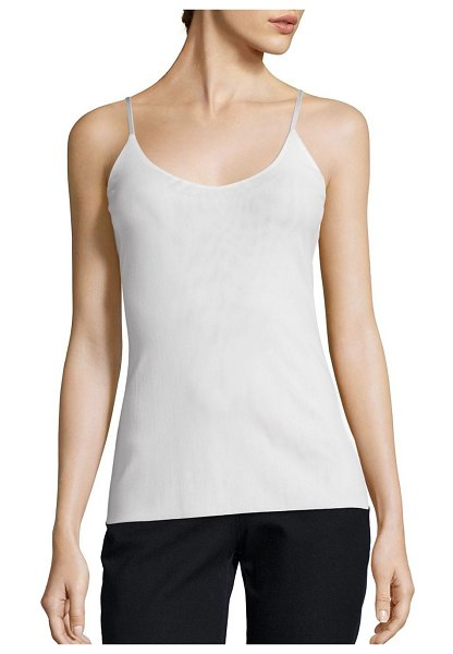 Lafayette 148 New York mesh jersey camisole in black,cloud,ink blue