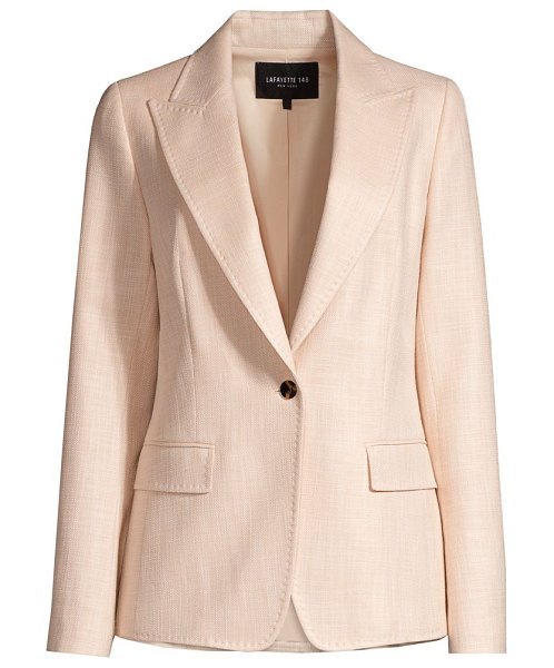 Lafayette 148 New York monarch weave carter jacket in cloud melange