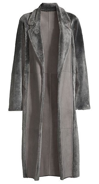 Lafayette 148 New York reversible shearling devonshire coat in cave