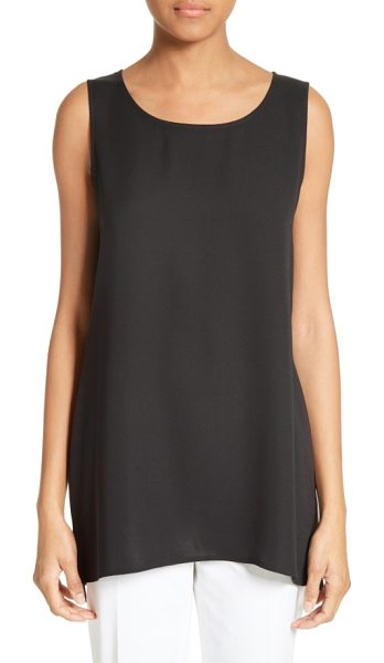 Lafayette 148 New York ruthie silk blouse in black