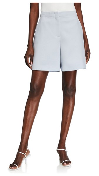 Lafayette 148 New York Ryerson Finesse Crepe Shorts in blue