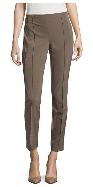 Lafayette 148 New York acclaimed stretch gramercy pants in black,camello,garland green,ink,nougat,sand,white