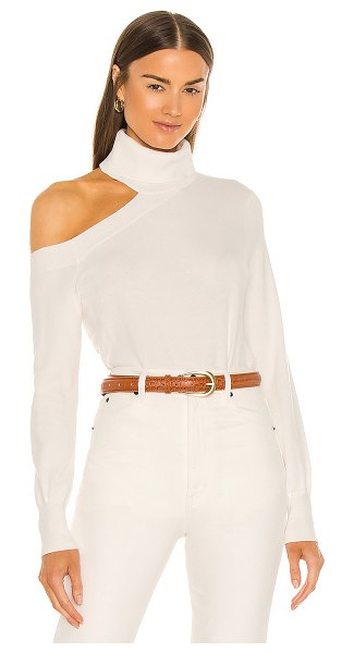 L'AGENCE easton one shoulder sweater in ivory