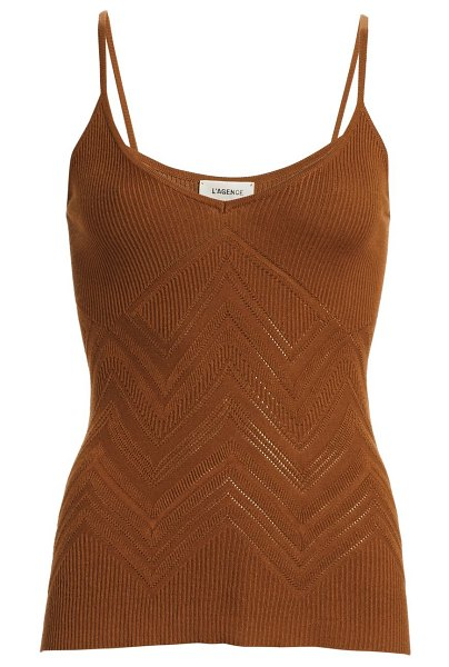 L'AGENCE hayek viscose camisole in spice
