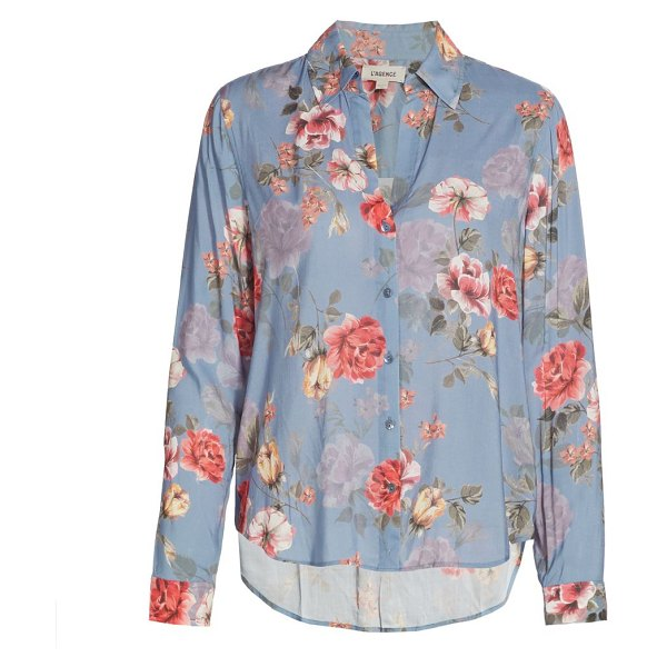 L'AGENCE holly floral blouse in antique rose