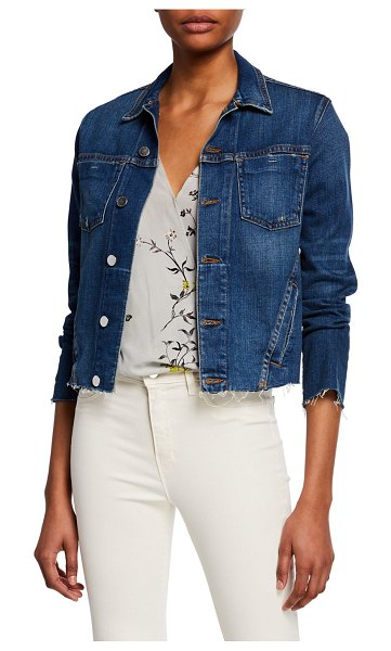 L'AGENCE Janelle Slim Raw-Edge Jacket in authentique
