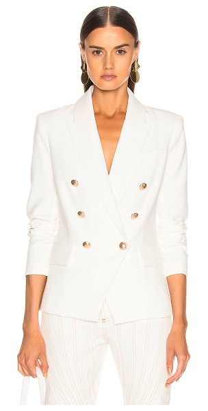 L'AGENCE Kenzie Double Breasted Blazer in white - Self: 73% poly 20% viscose 7% elastan - Lining: 100%...