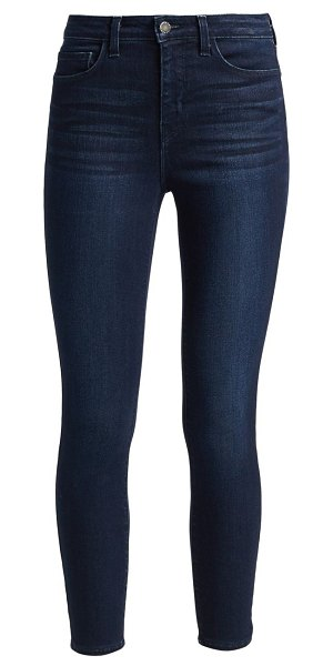 L'AGENCE margot high-rise ankle skinny jeans in marino blue