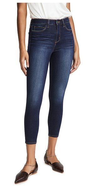 L'AGENCE margot high rise skinny jeans in baltic