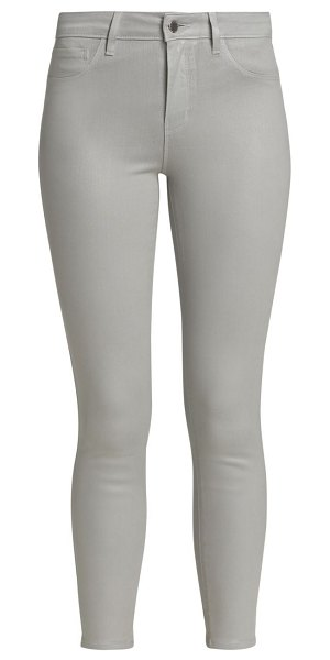 L'AGENCE margot high-rise skinny jeans in cloud coated