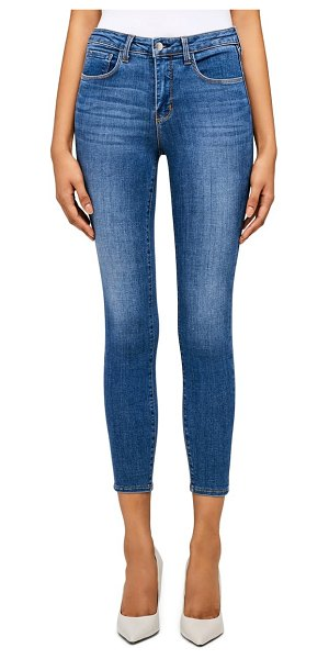 L'AGENCE margot high waist crop jeans in light vintage