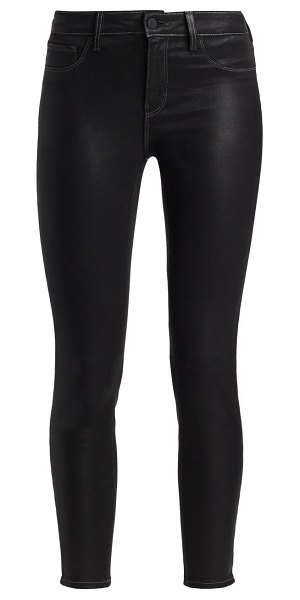 L'AGENCE marguerite high-rise skinny jeans in noir contrast coated