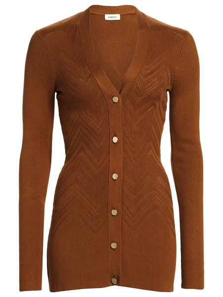 L'AGENCE Millie Viscose Cardigan in spice