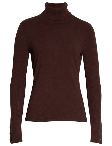 L'AGENCE odette turtleneck sweater in chocolate