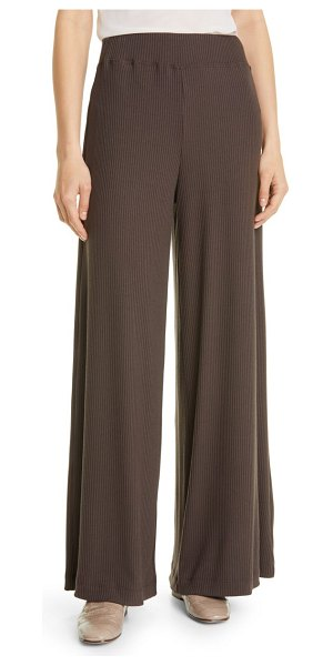 L'AGENCE the crawford wide leg knit pants in coco