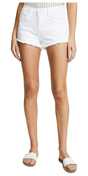 L'AGENCE zoe perfect fit shorts in blanc