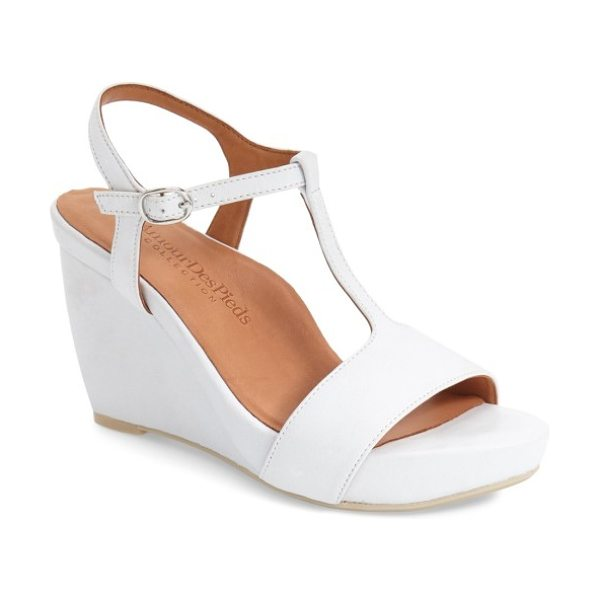 L'Amour des Pieds 'idelle' platform wedge sandal in white leather