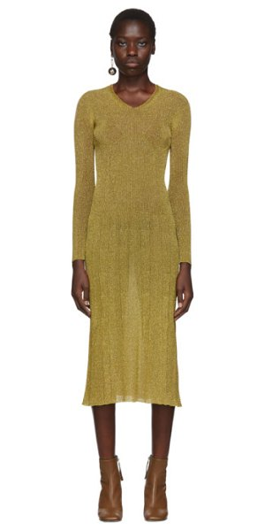 Lanvin lurex knitted dress in gold