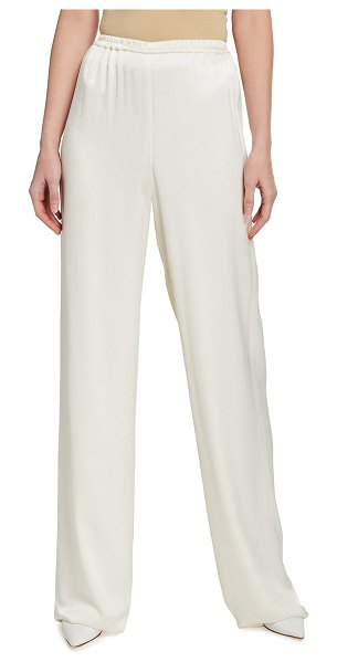LAPOINTE Fine Textured Satin Pants in ivory