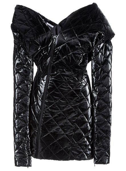 LAQUAN SMITH quilted puffer dress in black