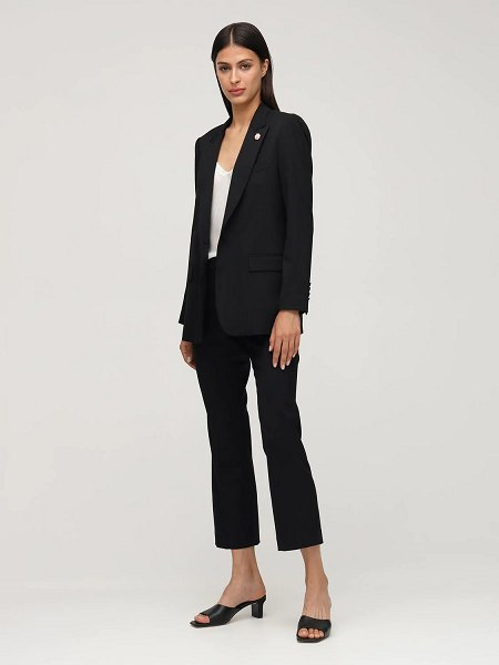 LARDINI Ghiso stretch gabardine blazer in black
