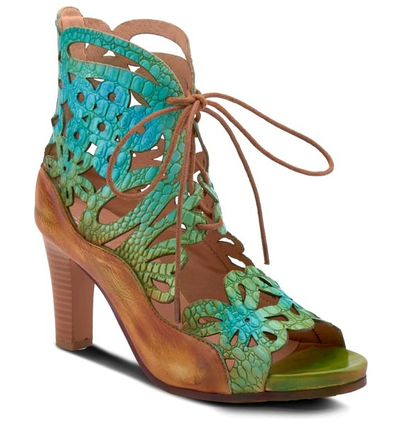 L'Artiste osocool sandal in green leather