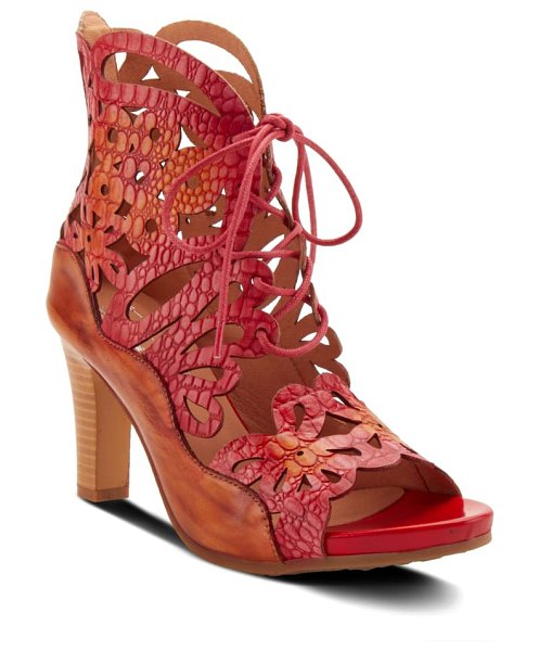 L'Artiste osocool sandal in red leather