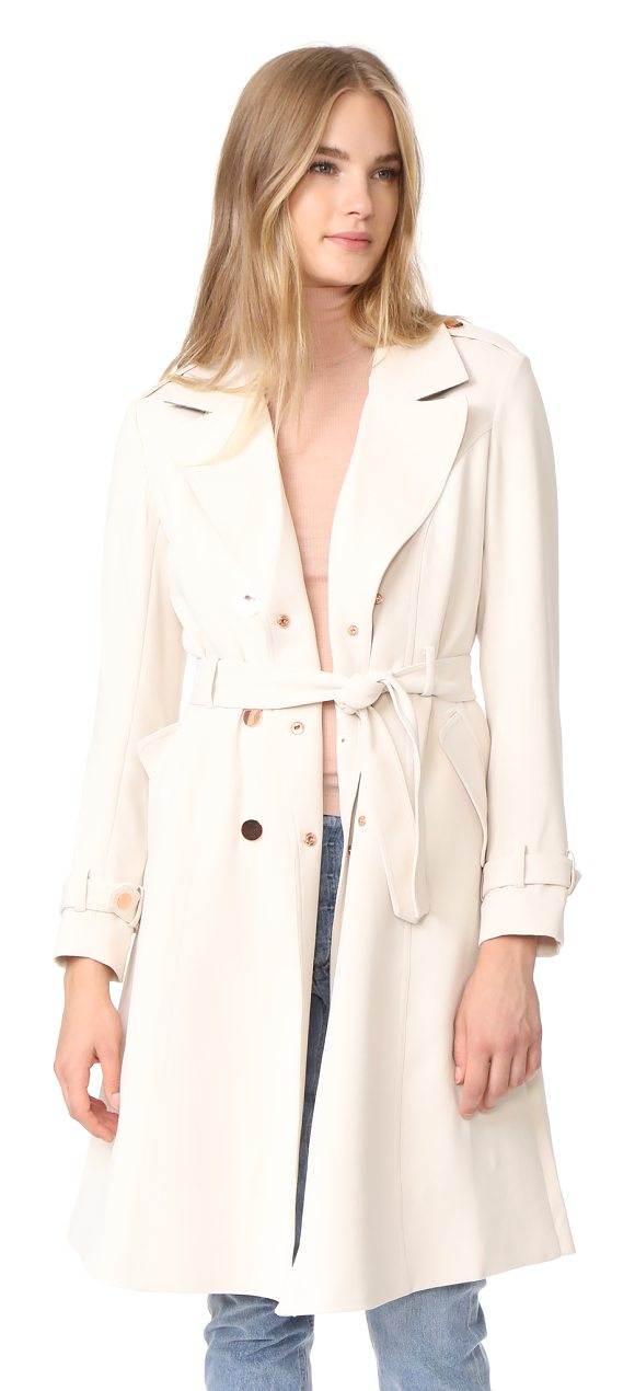 LAVEER angelina trench coat - A classic double-breasted trench coat from LAVEER, accented...