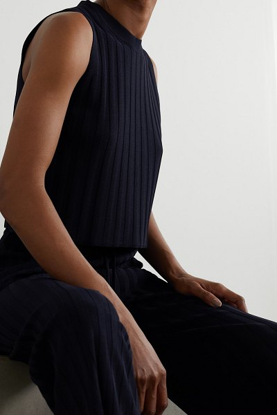 LE 17 SEPTEMBRE ribbed-knit tank in navy