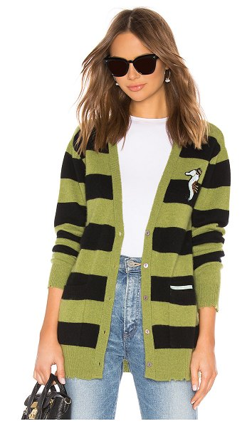 Le Superbe BFS Cashmere Cardigan in green - Cashmere blend. Dry clean only. Knit fabric....