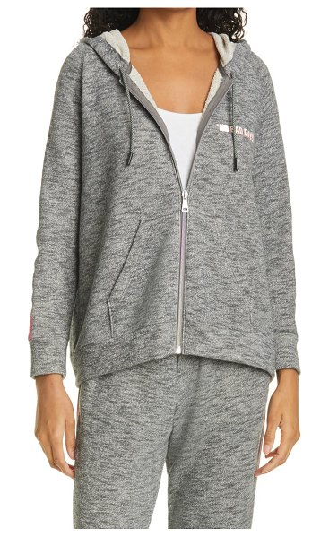 Le Superbe no bad days hoodie in heather grey