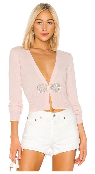 Le Superbe pismo beach cashmere cardigan in pink