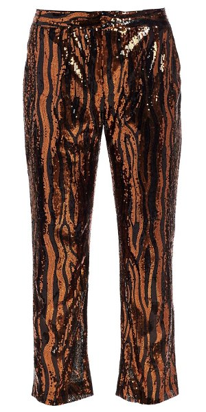 Le Superbe sequin cropped chino trousers in bengal sequin